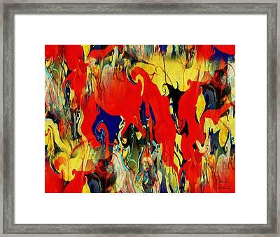 Rhapsody In Red Framed Print