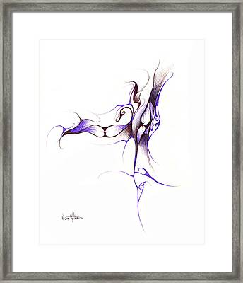 Rhapsody Of Contortion  Framed Print by Nathaniel Hoffman