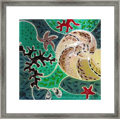 Rhapsody Of The Sea Framed Print by Karena Donnelly