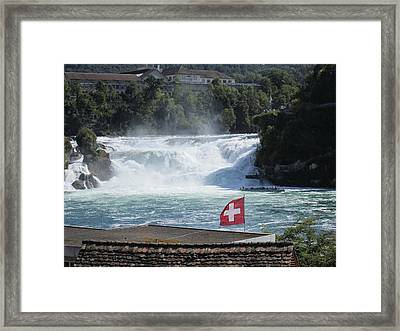 Rhine Falls In Switzerland Framed Print