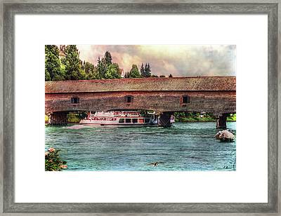 Framed Print featuring the photograph Rhine Shipping by Hanny Heim