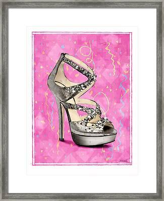 Rhinestone Party Shoe Framed Print