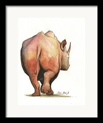 Rhinos Framed Prints