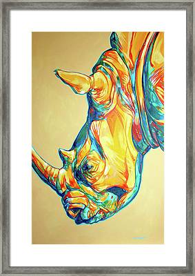 Rhino Framed Print by Derrick Higgins