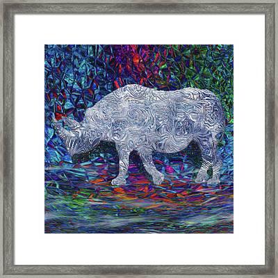 Rhino Glass Work Framed Print