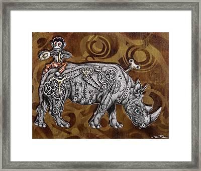 Rhino Mechanics Framed Print