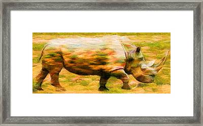 Rhinocerace Framed Print by Caito Junqueira