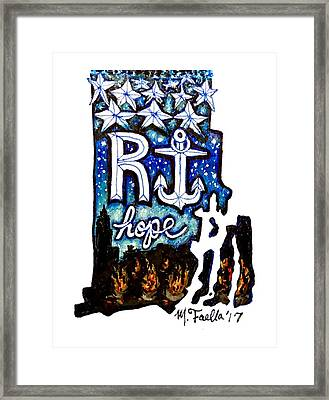 Rhode Island, Hope Framed Print