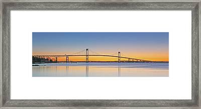 Rhode Island Newport Bridge Framed Print by Juergen Roth