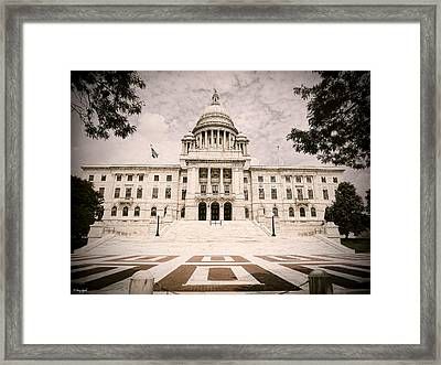 Rhode Island State House Framed Print by Lourry Legarde