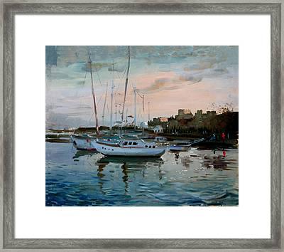 Rhodes Mandraki Harbour Framed Print