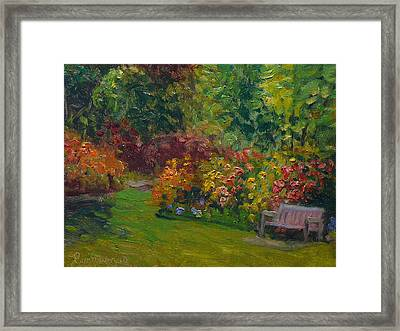 Rhododendron Dell  Framed Print