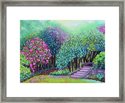 Rhododendrons In The Sunken Garden Framed Print
