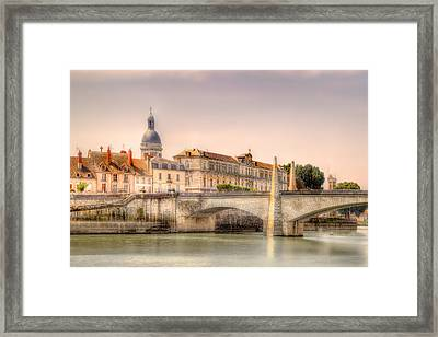 Bridge Over The Rhone River, France Framed Print