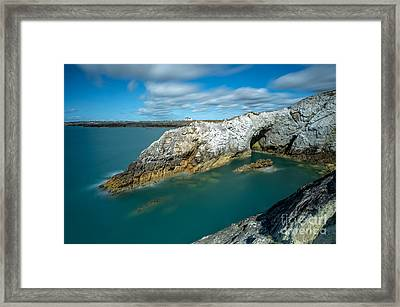 Rhoscolyn Coastline Framed Print
