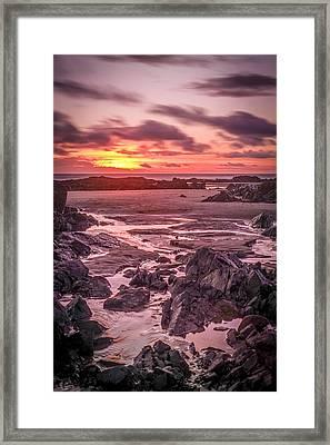 Rhosneigr Beach At Sunset Framed Print