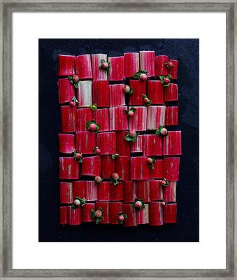 Rhubarb Wall Framed Print
