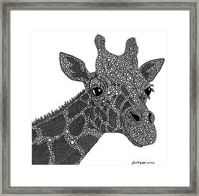 Rhymes With Giraffe Framed Print