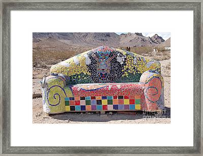 Framed Print featuring the photograph Rhyolite Sofa by Walter Chamberlain