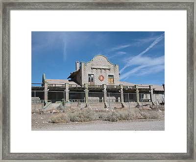 Rhyolite Station Framed Print by William Thomas