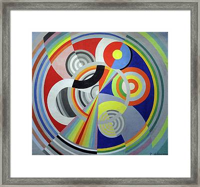 Rhythm 1, Decoration For The Salon Des Tuileries Framed Print by Robert Delaunay