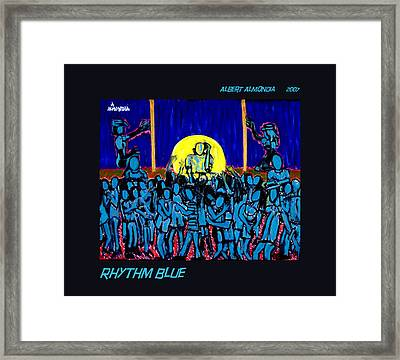 Rhythm Blue Framed Print by Albert Almondia
