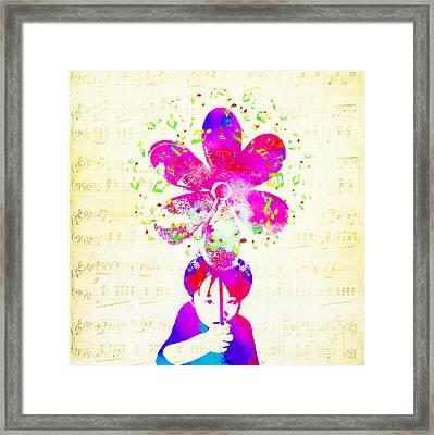 Rhythm Of Life - Purple Framed Print