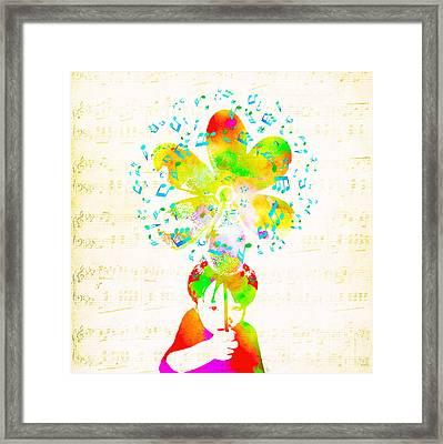 Rhythm Of Life - Green Framed Print