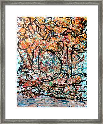 Framed Print featuring the mixed media Rhythm Of The Forest by Genevieve Esson