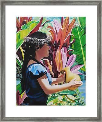 Rhythm Of The Hula Framed Print by Marionette Taboniar
