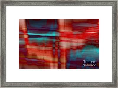 Rhythmic Stripes Framed Print by Tlynn Brentnall