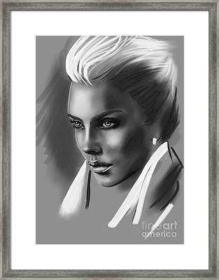 Ria. In Front Of The Truth. Framed Print
