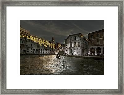 Framed Print featuring the photograph Rialto Bridge Venice by John Hix