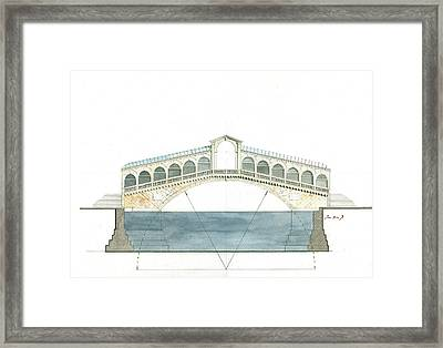 Rialto Bridge Venice Framed Print by Juan Bosco