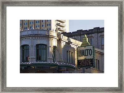 Rialto Tacoma Framed Print by Cathy Anderson