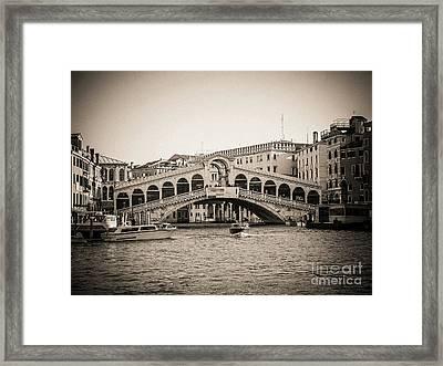 Rialto Venice . Italy Framed Print by Bernard Jaubert