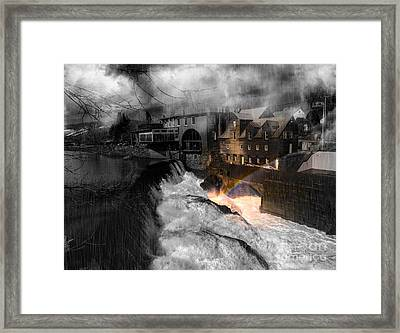 Rainbow In The Mist Framed Print by Sherman Perry
