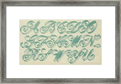 Riband Letter Framed Print by English School