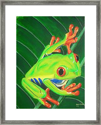 Ribbit Framed Print