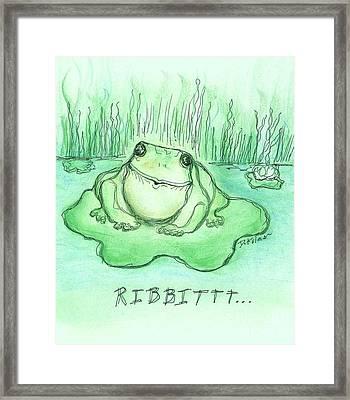 Ribbittt.... Framed Print by Denise Fulmer