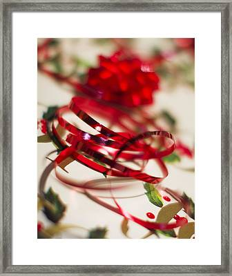 Ribbon Curls Framed Print by Rebecca Cozart