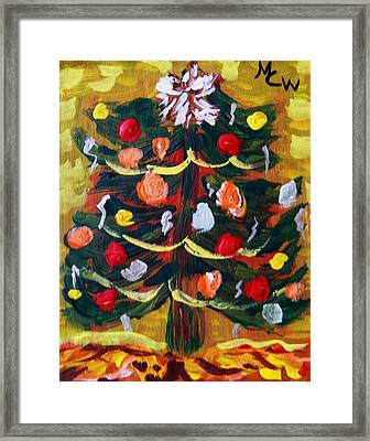 Framed Print featuring the painting Ribbon Garland by Mary Carol Williams