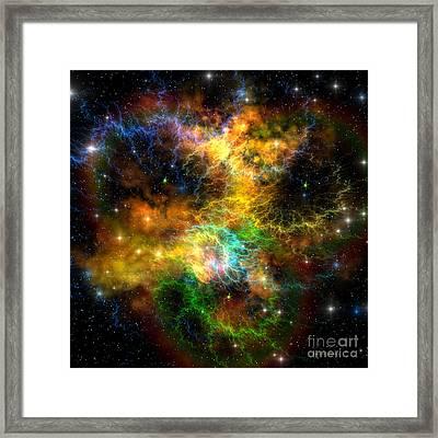 Ribbon Nebula Framed Print by Corey Ford