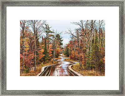 Ribbon Road Framed Print