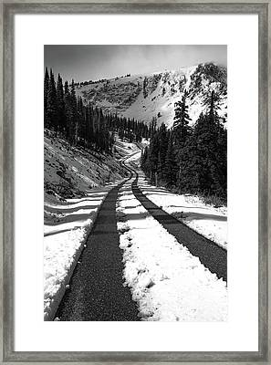 Ribbon To The Unknown Monochrome Art By Kaylyn Franks Framed Print by Kaylyn Franks