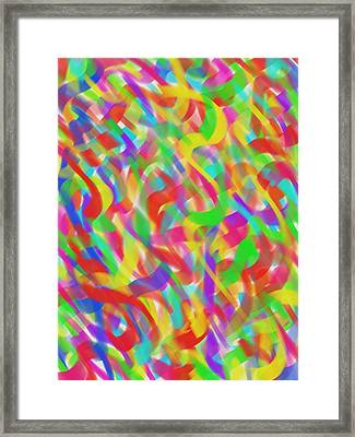 Framed Print featuring the drawing Ribbons by Kevin Caudill