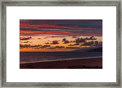 Ribbons Of Red Framed Print