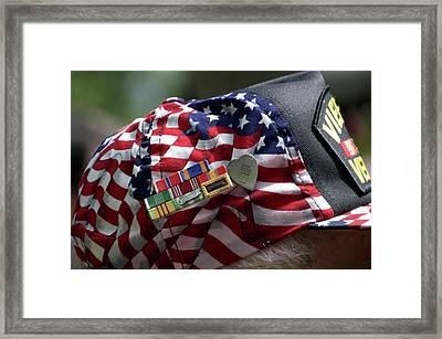 Ribbons Of Sacrafice And Courage Vietnam Veteran Framed Print by Thomas Woolworth