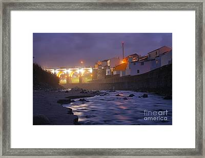 Ribeira Grande At Night Framed Print by Gaspar Avila