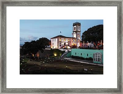 Ribeira Grande Town Hall Framed Print by Gaspar Avila